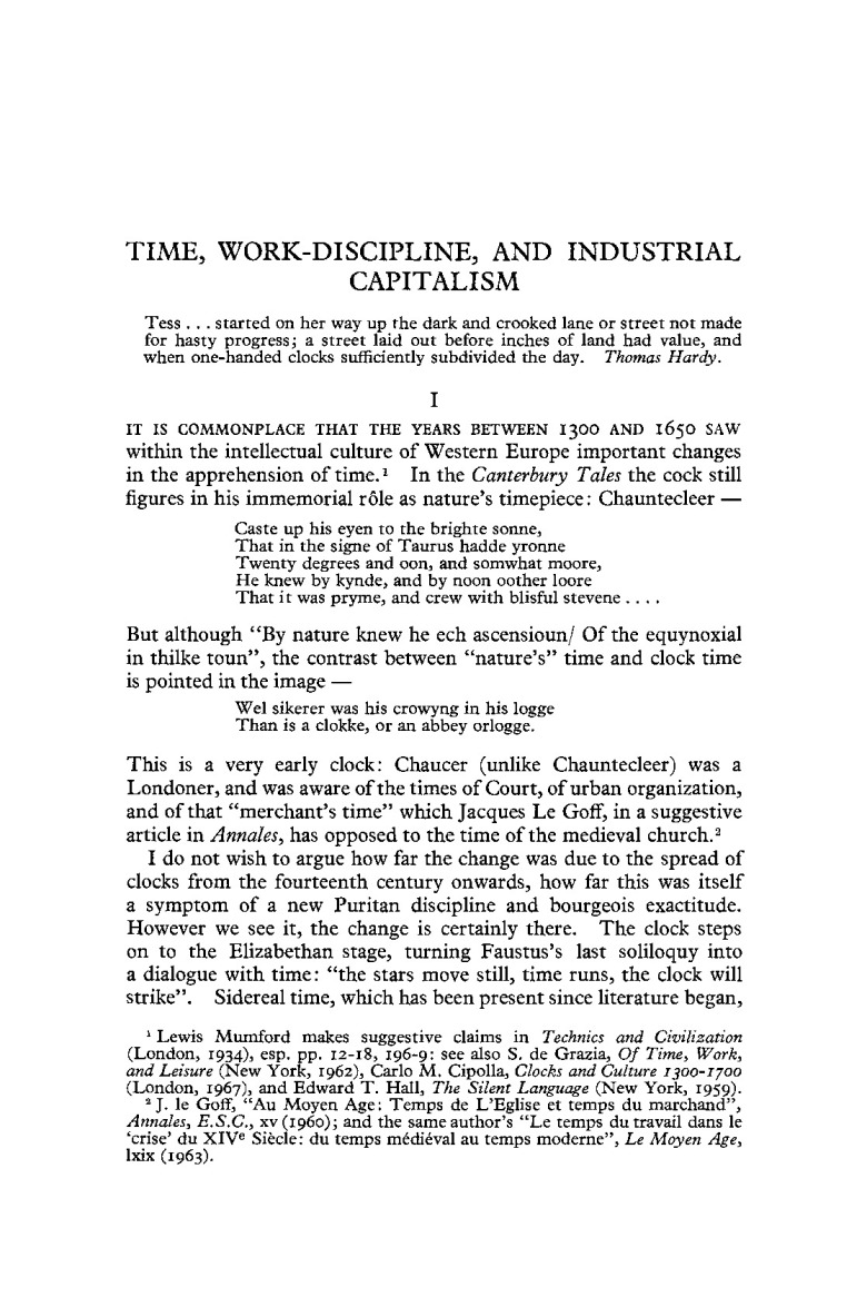 front page time work discipline -- pp 67