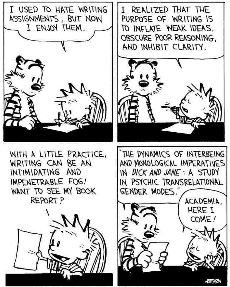 Calvin and Hobbes -- Academia Here I Come